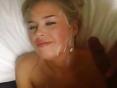 Amateur Blonde Cumshot Facial