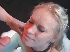 Blonde Cumshot Facial