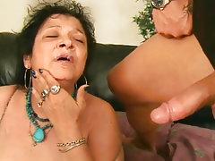 Blowjob Cumshot Mature Old and Young Granny