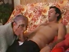 Cumshot Granny Hardcore Old and Young Stockings